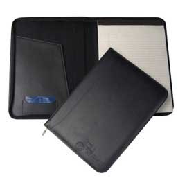 Zippered Slim-Line Padfolio