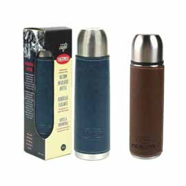 16 oz. Leather or Leatherette Wrapped Vacuum Bottle